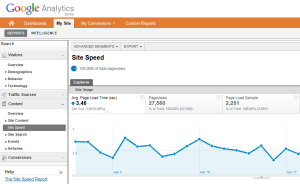 Google Analytics Speed Report